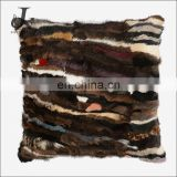 China Supplier Colorized Real Mink Fur Decorative Pillow