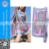 New arrival many colors flower printed cheap pareo beach batik sarong                                                                         Quality Choice