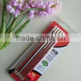 10pcs HB stripe pencils with eraser in double blister card