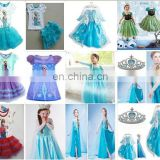 Frozen elsa costume dress princess dresses for kids birthday dress FC014