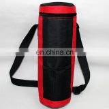 Black and red dirtproof color water bottle bag with strap