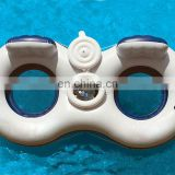 Inflatable Double River Floating Tube with Cooler Box