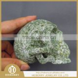 natural qinghai jade human skull skeleton/carving good for home decoration