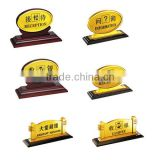 wood metal acrylic hotel lobby signs