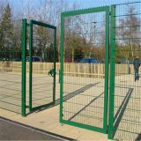 CE Certificated pvc coated wire mesh fence gate design