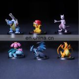 2017 new arrival 8 pcs pokemon game action figures pokemon toys