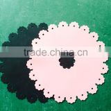 Waterproof high temperature circular lace silicone insulation pad / mat