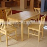 solid wood dining tabel and chair