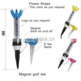 70mm plastic magnetic magnet golf tees