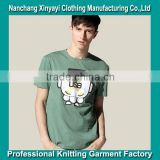 Most Popular Products Trendy T Shirt Men Garment with Printed Cartoon Characters Garment Factory
