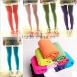 Hot Wholesale New Fashion Candy Color Cartoon Cute Ballet Dance Tights Plain Solid Color Thin Kids Girls Pantyhose