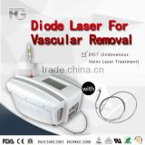 less sessions and less side effect effective laser spider vein removal machine / laser vascular removal