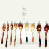 high quality string wood coffee spoon /hyizm wood tea spoon honey spoon /fancy dessert spoon tableware