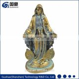 Religious act church decoration antique bronze virgin mary statues