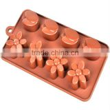 silicone leaf and plum blossom Chocolate moulds