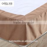 light tan floral stapled eco-friendly wrinkle hotel bed skirt