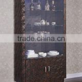 2015 best seller wooden wine cabinet /stainless steel Display Cabine C126