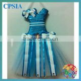 2012 new styles aqua tutu dresses bow holders