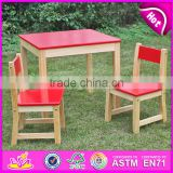 2017 New wooden children table for child, high quality wooden baby table for baby,hot sale wooden kids table for kids W08G134