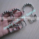 Wholesale 80mm Bathroom Metal Double Hook Curtain Ring