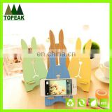 2016 Hot sale Rabbit Wooden Mobile Phone Holder Mobile Phone Stand