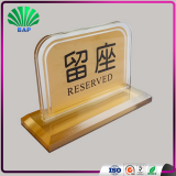 Cheap Restaurant Waiting Card Holder Indoor Display Racks Acrylic Reserved Table Sign