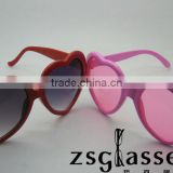 Custom design Hot heart shaped sunglasses can print logo in frame
