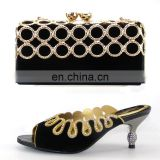 Free shipping fashion newest bag matching shoes popular color shoes and bags matchings170316002
