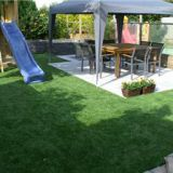 Artificial turf wall installation process
