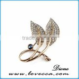Simple rose gold rhinestone brooch jewelry,rhinestone brooch for fashion accessory,wholesale shine rhinestone brooch