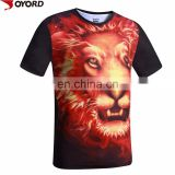 Men Gender and O-Neck Collar sublimation t-Shirt 3D printing t-shirt 3d dye