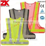 ANSI/ISEA 107 motorcycle reflective safety vest with poly reflective tape