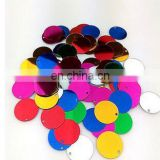 Large Round Sequins 15mm PVC Sequin Flat Round Art design Acessorios With Side Hole Dancing Dress Accessory