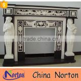 artificial marble fireplace surround for wholesale NTMF-F512X