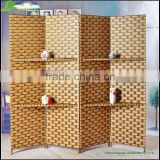 High quality paper rope woven decoration screens beautiful woven office wall partitions soundproof room divider GVSD009