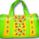 Cotton Canvas Embroidered handbags small tote bags
