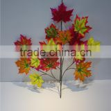 artificial leaves fabric colourful maple branch