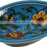 Blue Pottery Bathroom Accesories , Designer Soap Dish