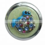 2012 New arrival selling Zinc Alloy Fashionable Bejewelled metal mirror