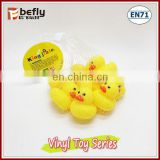 Hot sale 2 inch yellow vinyl bath duck toys for baby