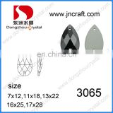 DZ-3065 drop sew on stone flat back crystals for shoes