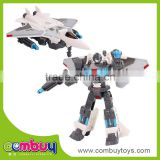 Funny intelligence transform plane toy fighter metal robot