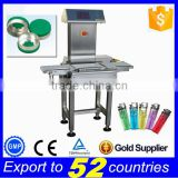 Free shipping fit for food factory automatic check weigher,bottle caps automatic weight check machine