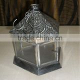 Embossed Steel Candle Lantern For Enhancing Beauty of Garden and Home
