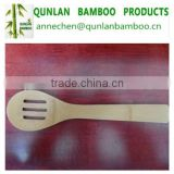 Natural mini bamboo scoop meal rice spoon with three holes