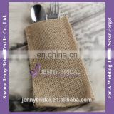 BSE01 burlap silverware wedding fancy envelopes burlap favor bags