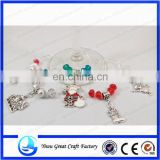 Christmas Wine Glass Charms - Set of 5