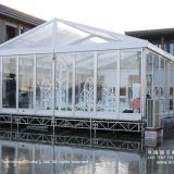10m by 15m transparent tent for 100 people wedding ceremony