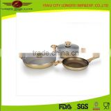 Cookware Deep Ears Aluminium Fry Pan +Casselore Set