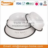 3 Size powder coating metal dog food bowl